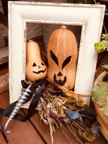 かぼちゃのディスプレイ